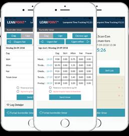 Ugeseddel i LeanPoint App