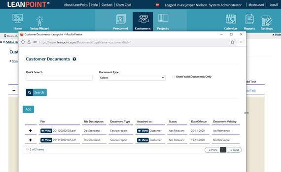 Document handling page